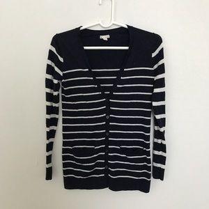 GAP navy striped cardigan